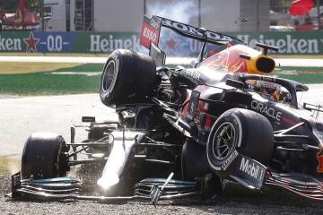 Hamilton says halo saved him in Monza collision
