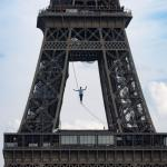 In Pictures – French slackliner wows crowd with Eiffel Tower performance