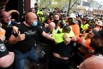 Photo Story – Construction, Forestry, Maritime, Mining and Energy Union (CFMEU) protest in Melbourne