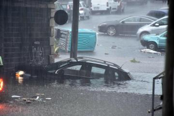 Fierce storm turns squares into lakes in southern Italy