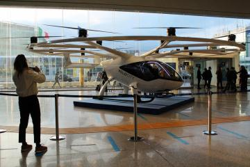 Photo Story: The VoloCity prototype is presented at Fiumicino airport