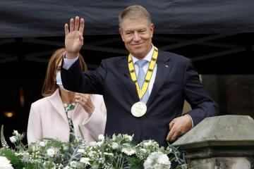 Romania's President Klaus Iohannis receives Charlemagne Prize