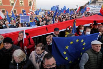 """""""Brexit can happen here"""", Poles demonstrate in support of EU membership"""