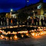 Photo Story – People pay tributes in Kongsberg