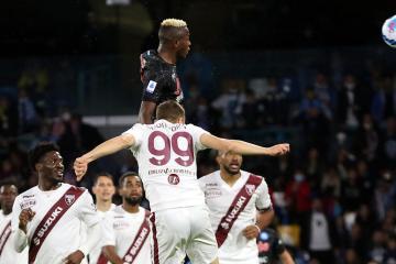Osimhen strikes late against Torino to maintain Napoli's perfect record