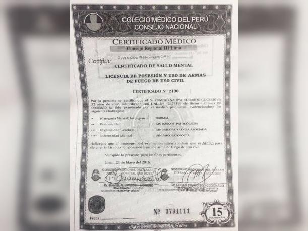 Independencia Certificado Mdico De Asesino No Revel
