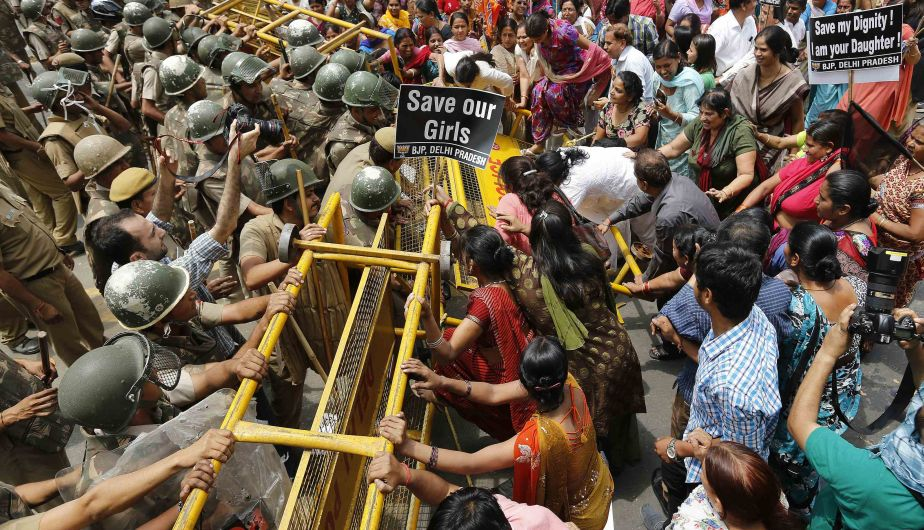 Protesta, India, Violación, Niña, Nueva Delhi