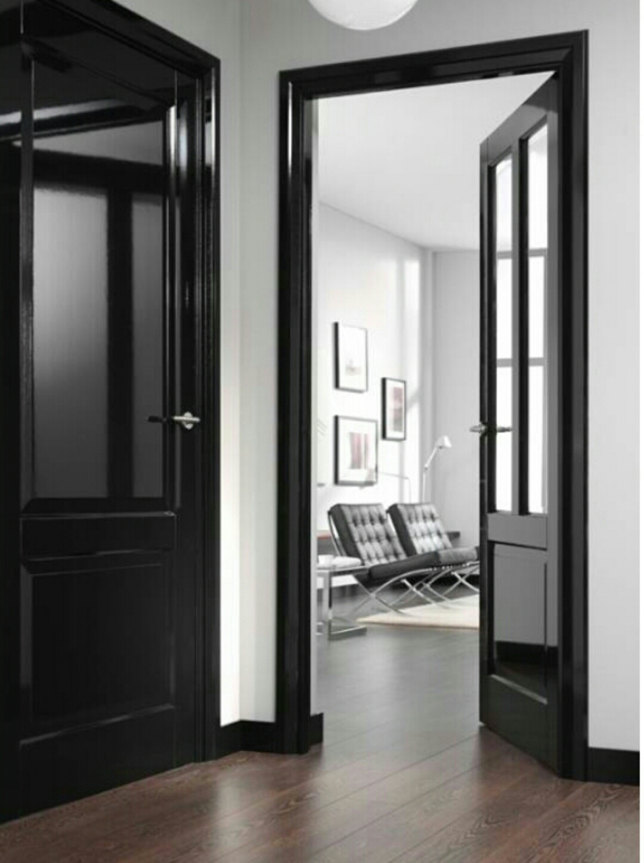 des portes noires c deco. Black Bedroom Furniture Sets. Home Design Ideas