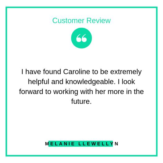 Review from Melanie Llewellyn