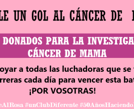 Cartel Métele un gol al cáncer de mama