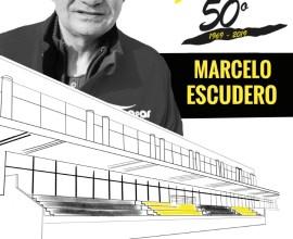 cartel homenaje a Marcelo Escudero