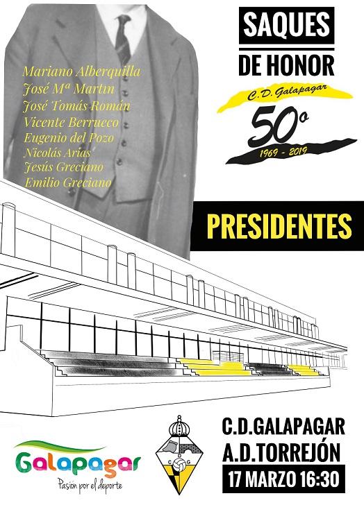 Cartel homenaje a ex presidentes del Club