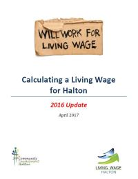 Calculating a Living Wage in Halton: 2016 Update