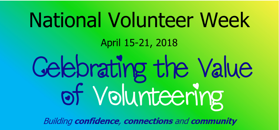 National Volunteer Week 2018