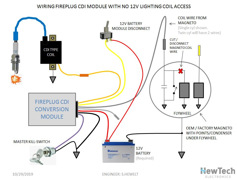 Points Condenser To Fireplug Cdi Conversion Module Www Cdibox Com