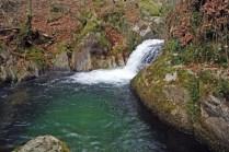 Salto previo a la cascada
