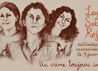 Appel à manifester pour réclamer justice pour Sakine, Fidan et Leyla, militantes kurdes assassinées à Paris le 9 janvier 2013