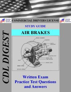 CDL Study Guide Air Brakes