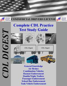 CDL Study Guide: Complete CDL Study Guide