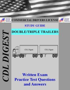 CDL Study Guide Double Triple Trailers Endorsement