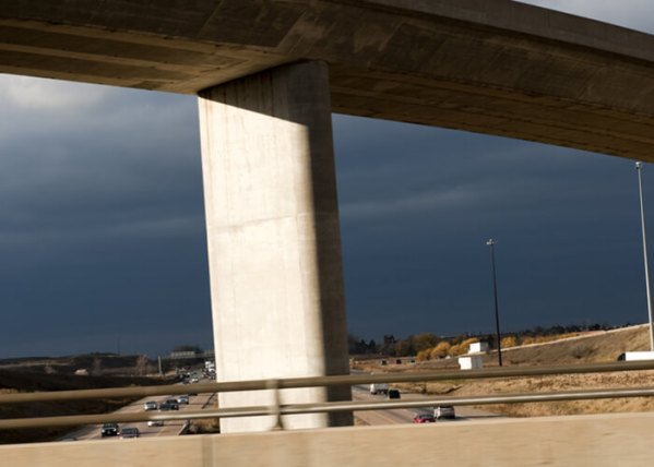 Truck Damages Overpass