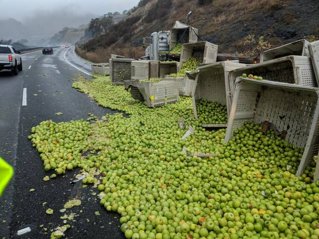 Apple Truck Crash