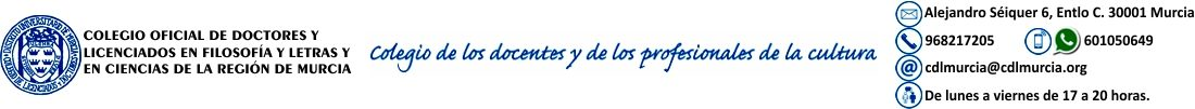Colegio Oficial de Doctores y Licenciados en Filosofía y Letras y en Ciencias de la Región de Murcia