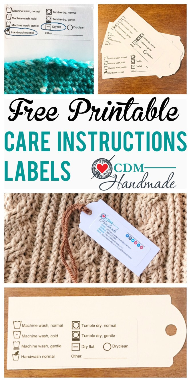 It is a picture of Adorable Printable Crochet Labels