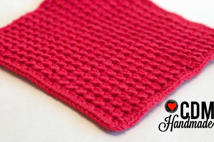 Washcloth Series Crunch Stitch Crochet Washcloth Cdm Handmade