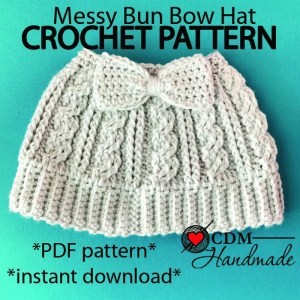 cabled-messy-bun-bow-hat-etsypattern