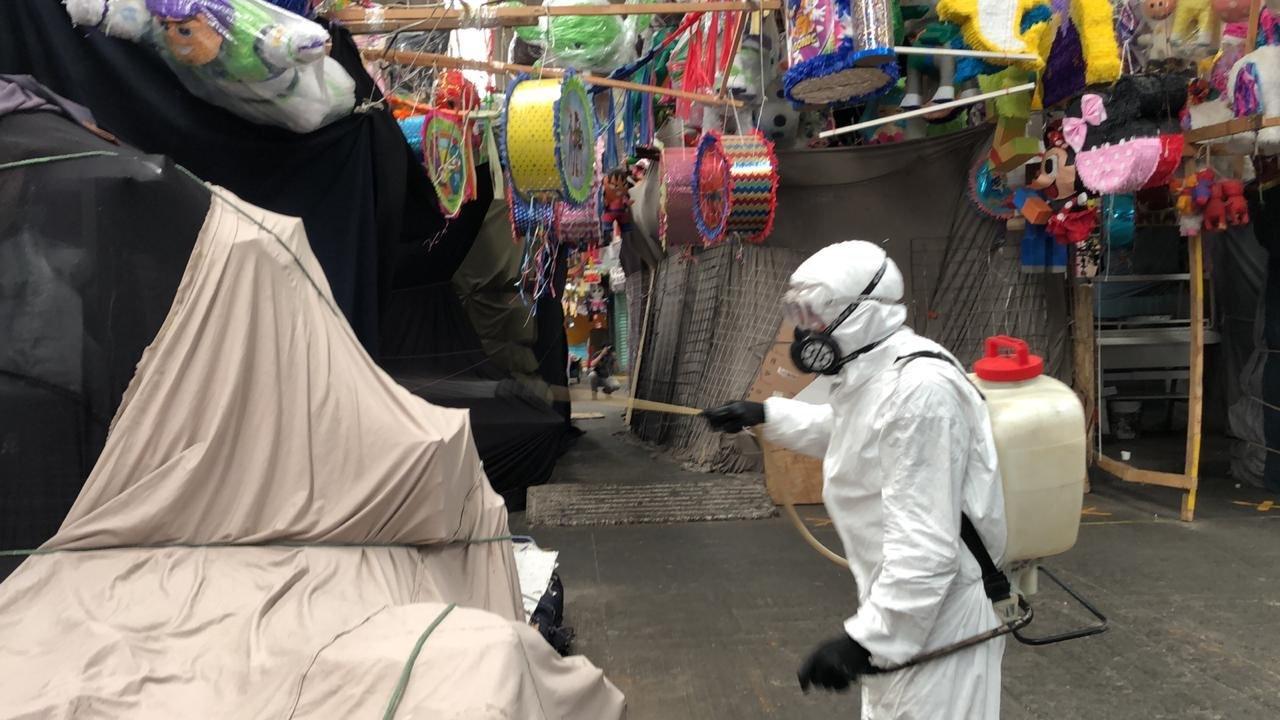 Venustiano Carranza Jornada De Sanitizacion En El Mercado Sonora