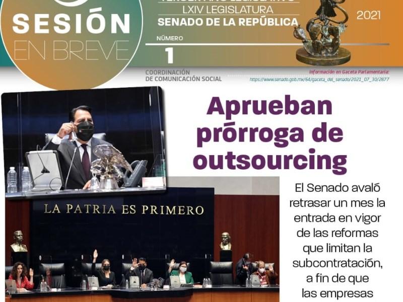 Senado avalo REFORMA OUSOURCING