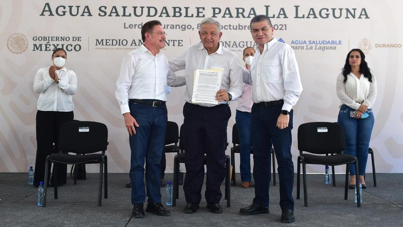 Lopez Obrador anuncia plan de desarrollo integral en la region de La Laguna proyecto de agua saludable esta listo para iniciar Conagua