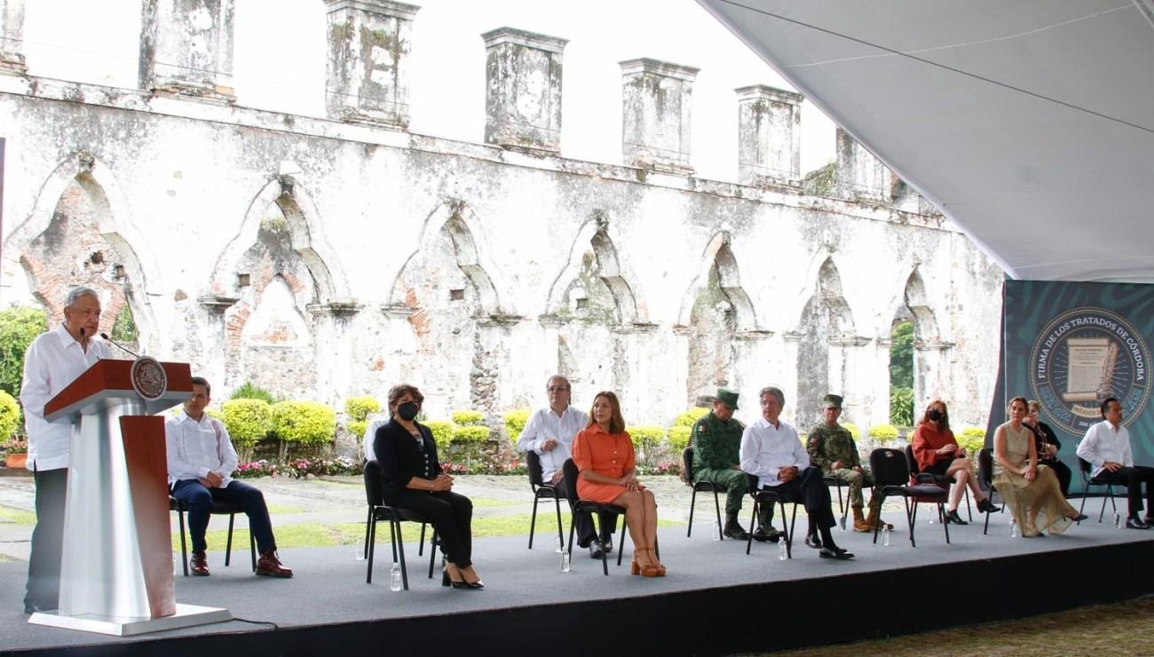 Lopez Obrador conmemora 200 anos de la Firma de los Tratados de Cordoba llama a preservar legado de luchadores sociales