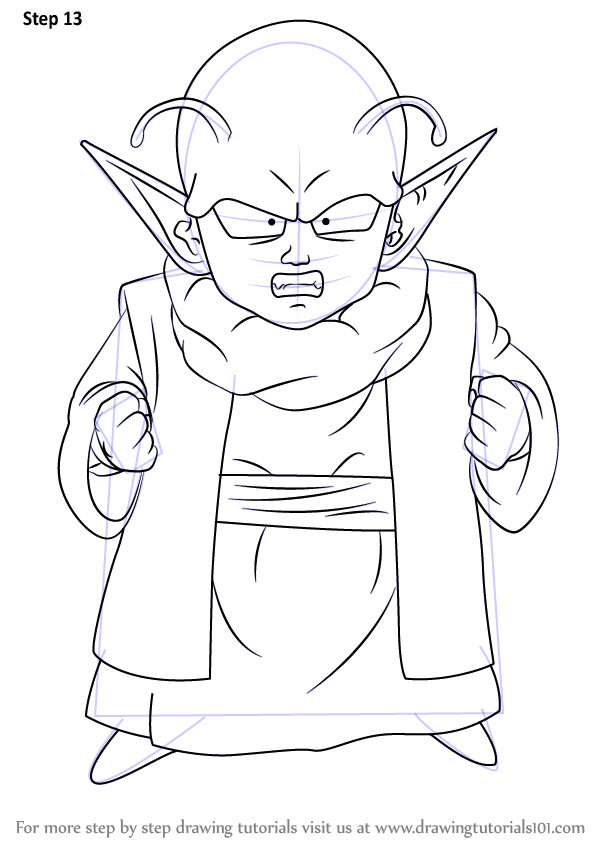 Step by Step How to Draw Dende from Dragon Ball Z