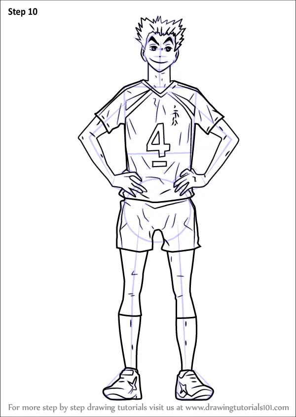 Learn How to Draw Bokuto Kotarou from Haikyuu!! (Haikyuu