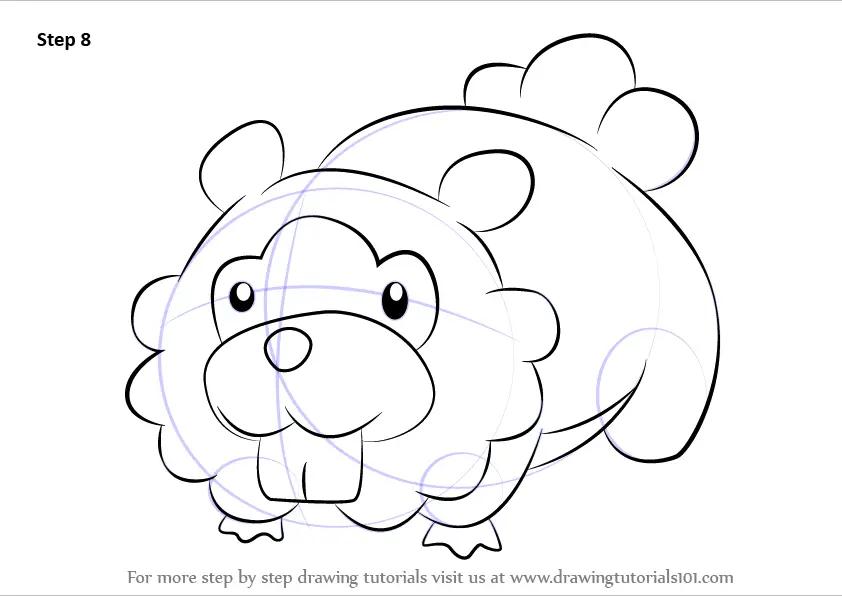 Learn How to Draw Bidoof from Pokemon (Pokemon) Step by