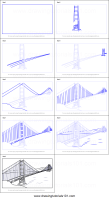 How to Draw The Golden Gate Bridge printable step by step ...