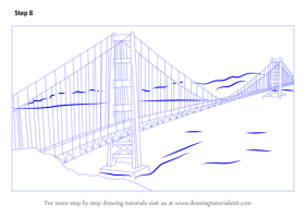 Learn How to Draw The Golden Gate Bridge Bridges Step by ...