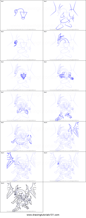 yu gi oh draw dragon dark rebellion xyz official step drawing drawingtutorials101 yugioh printable sheet drawings