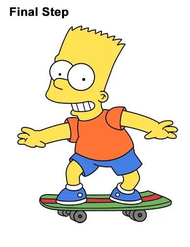 Bart Simpson Riding A Skateboard : simpson, riding, skateboard, Simpsons