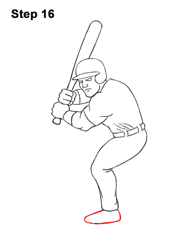 Baseball Drawing Easy : baseball, drawing, Baseball, Player, VIDEO, Step-by-Step, Pictures