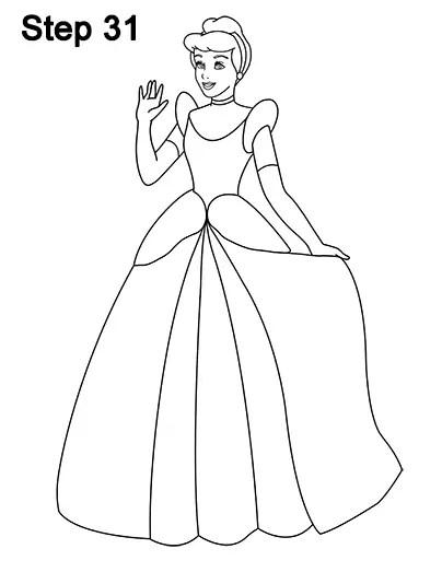 How To Draw Cinderella : cinderella, Cinderella, (Full, Body)