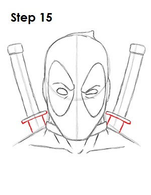 marvel deadpool draw easy drawings drawing characters step cartoon sketches dessin swords venom superhero zeichnungen dibujos character pencil zeichnen dessins