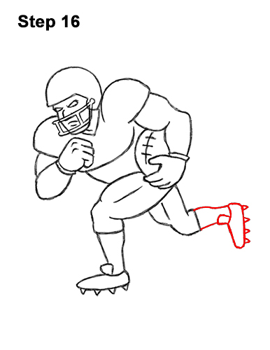 Football Drawing Easy : football, drawing, Football, Player, VIDEO, Step-by-Step, Pictures