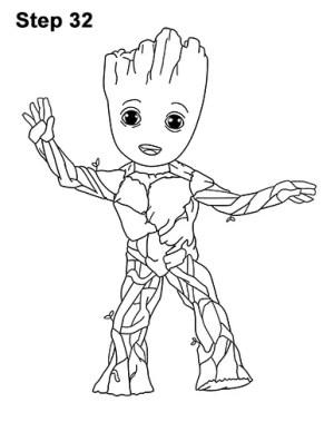 Simple Drawings Groot 1