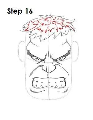 Hulk Face Drawing : drawing