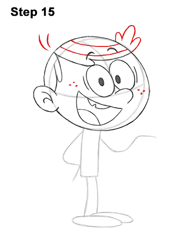 How to Draw Lincoln Loud from The Loud House VIDEO & Step