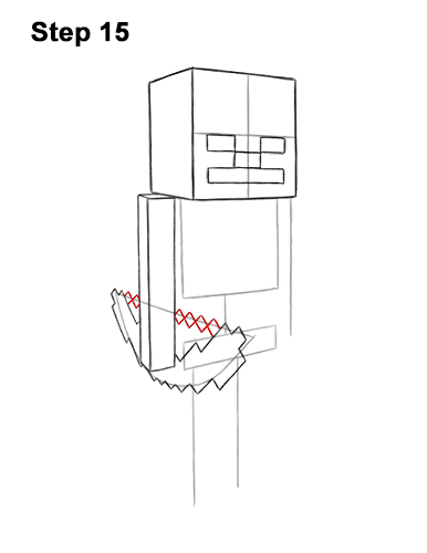 How to Draw a Skeleton from Minecraft Step-by-Step Pictures