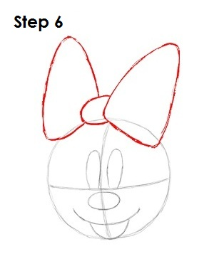 Minnie Mouse Bow Drawing : minnie, mouse, drawing, EasyDrawingTutorials.com, Favorite, Cartoons, VIDEOS, Step-by-Step, Pictures